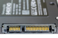 Solid state drive ssd sata connector on white nodern background Stock Photos
