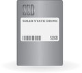Solid state drive ssd on white background vector illustration Stock Photos
