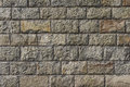 Solid stone block wall Royalty Free Stock Photography