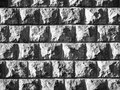 Solid stone wall background texture garden architecture black and white image Stock Image
