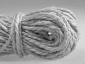 Solid twine detail of a in light back grey toned Stock Photos