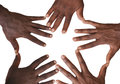 Solidarity gesture of hands Royalty Free Stock Photo