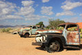 Solitaire namibia old abandoned car in the village Stock Photos