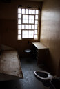 Solitary confinement a single occupancy prison cell in a maximum security prison in the usa Royalty Free Stock Photography