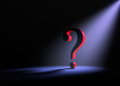 Solitary Question Royalty Free Stock Photo