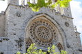 Soller cathedral exterior image of the which centers in mallorca Royalty Free Stock Images