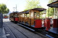 Soller tram the old fashioned wooden Royalty Free Stock Photos