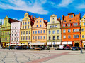 Solny square, Wroclaw, Poland Stock Photography
