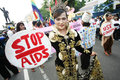 Solo indonesia november transgender woman hiv positive activists participated unsanctioned demonstration to mark world aids day Stock Photography