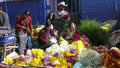 Solola guatemala flower sellers at the weekly market of is the capital of the department of sololá and the Royalty Free Stock Photography