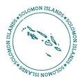 Solomon Islands vector map.