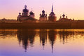 Solovetsky monastery landscape with the image of on island in white sea russia Stock Photo