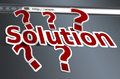 Solution concept word as a background Royalty Free Stock Photography