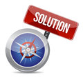 Solution conceptual image compass Royalty Free Stock Images