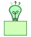 Solution and Idea Concept Light Bulb Question Mark Royalty Free Stock Photos