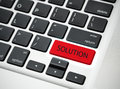 Solution message on computer keyboard. concept problem Royalty Free Stock Photo