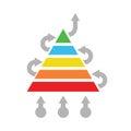 Solution optimization concept abstract pyramid vector illustration Royalty Free Stock Photos