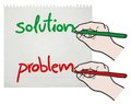 Solution and problem creative design of Stock Photo