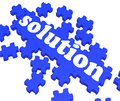 Solution Puzzle Shows Business Success Stock Photography