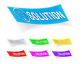 Solution, stickers Royalty Free Stock Photo
