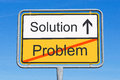 Solution to problem sign Stock Images