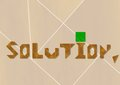 Solution word made from tangram an old chinese game Royalty Free Stock Photos