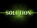 Solution word shows resolve resolution solving showing and solved Royalty Free Stock Photography