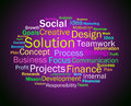 Solution words shows success resolution solving and solved showing Royalty Free Stock Photo