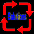 Solutions and arrows Royalty Free Stock Photo