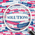 Solutions concept illustration graphic tag collection wordcloud collage Royalty Free Stock Photography