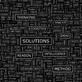 Solutions seamless pattern word cloud illustration Royalty Free Stock Photography