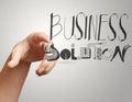Soluzione dello show business Fotografie Stock