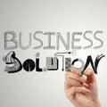 Soluzione dello show business Fotografia Stock
