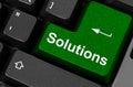 Soluzioni chiave verdi Fotografia Stock