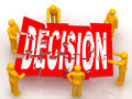 Solving Decision puzzle Royalty Free Stock Photo