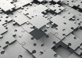 Solving jigsaw puzzle d render of an incomplete Stock Images