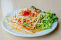 Som tam thai green papaya salad Royalty Free Stock Images