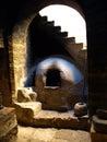 Somber kitchen in santa catalina monastery arequipa peru Royalty Free Stock Photos