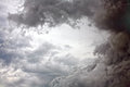 Somber sky background abstract image in the form of an overcast cloudy gray tones Royalty Free Stock Photography