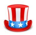 Sombrero superior de los E.E.U.U. para el Día de la Independencia Fotografía de archivo