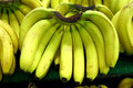 Some bunch of bananas in a supermarket Royalty Free Stock Photo