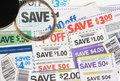 Some coupons Stock Photo
