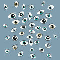 Some eyes illustration of opened Stock Image