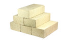 Some firebricks refractory bricks on a white background Stock Photography