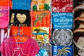Kitschy T-Shirts from a Souvenir Shop Royalty Free Stock Photo
