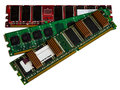 Some modules DDR RAM memory computer on white background. Royalty Free Stock Photo
