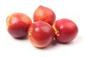 Some nectarine fruit isolated on white background Stock Image