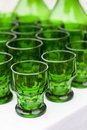 Some old green glasses Royalty Free Stock Photo