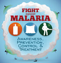 Some Precepts and Activities to Fight against Malaria Vectors, Vector Illustration Royalty Free Stock Photo
