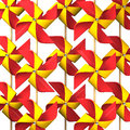 Some Red Yellow Pinwheel For Background Royalty Free Stock Photo